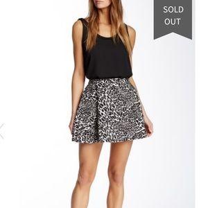 Amanda Uprichard cheetah circle skirt